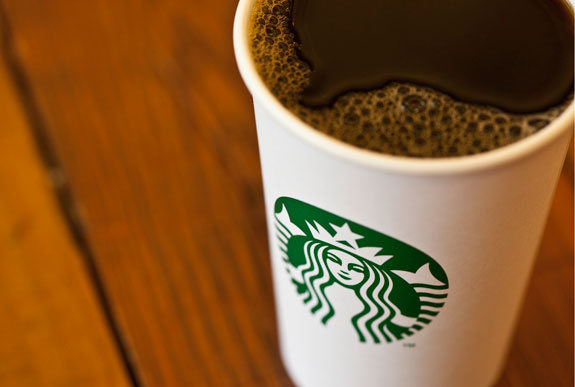 Starbucks Logo on Coffee